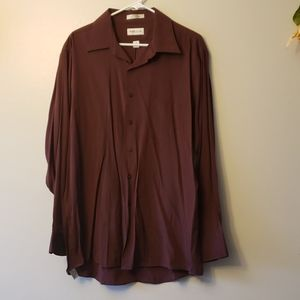 Burgundy Van Heusen dress shirt